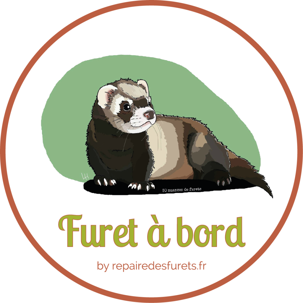 Sticker Furet a bord
